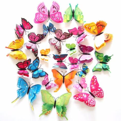 Купить бабочки на стену с 4 крыльями на магните в Киеве